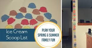 Plan <b>Spring</b> & <b>Summer</b> Fun with an Ice Cream Scoop List