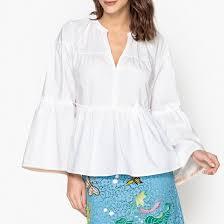 <b>Блузка</b> с широкими рукавами белый Maison Scotch | <b>La Redoute</b>