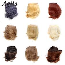 <b>1pieces Extension doll wigs</b> 5*100cm Natural Color Curly doll hair ...