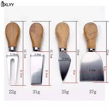 Online Shop <b>BXLYY</b> Hot 4pc/set Cheese Knife Set Oak Wood ...
