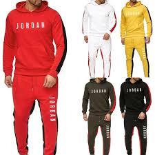 1Set Hooded Sweater <b>Sport</b> Sets Men's Outdoor <b>Sportswear</b> ...
