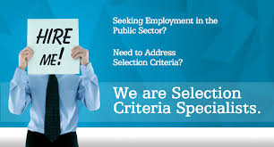 how to write key selection criteria