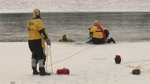 unique experience students head out on the lake take part in a very unique skill set thin ice rescue training held on okauchee lake