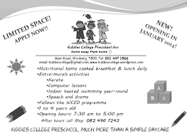 scene first day of school at kiddies college preschool figure 3 flyer for kiddies college preschool too that was created by the group for advertisement