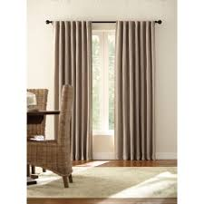 Hidden Tab Curtains Home Decorators Collection Monaco White Thermal Foam Backed Lined