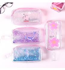 Korean Cute PVC Pig <b>Pencil Case</b> Colorful <b>Transparent Quicksand</b> ...