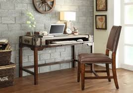 chic wooden desk by sauder furniture on brown floor for home office decor ideas chic office desk hutch