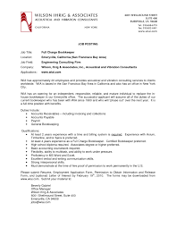best simple acoustical and vibration consultant bookkeeper resume fullsize