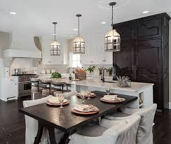 countertops dark wood kitchen islands table: heres a final exercise in contrast white island with matching countertop holds attached dark wood
