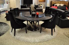 Contemporary Round Dining Table For 6 Simple Round Black Wooden Coffee Tables Room Truth Craft Andy