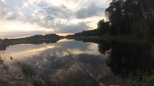 Ловля летней щуки на водоеме в Калужской области на ...