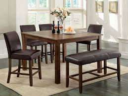 size dining room contemporary counter: counter height rustic dining room set with bench wood is dark oak finish constructed