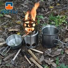 <b>Camping</b> Wood Stove <b>Portable Outdoor</b> Folding Titanium Wood ...