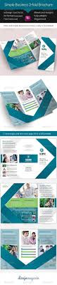 simple business fold brochure indesign template nice colors simple business 3 fold brochure indesign template print templates