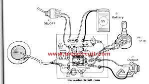 acoustic guitar pickup circuit using tl071 eleccircuit com pcb layout of acoustic guitar pickup