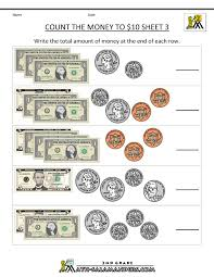 Printable Money Worksheets to $10Counting money to $10 Sheet 3 ...