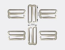 Painted <b>silver</b> type 9 metal bar <b>Buckles</b> clips for Lingerie Adjustment ...