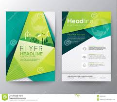 abstract triangle flyer design template stock vector image  abstract triangle flyer design template