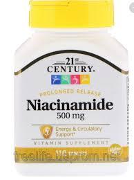 21st Century, <b>Никотинамид</b>, <b>500 мг</b>, <b>110 таблеток</b>, цена 127,66 ...