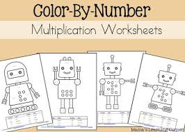 Multiplication Color By Number Worksheets | Number Worksheets ...4-page set of Multiplication Color By Number Worksheets for 2nd Graders - cute robot