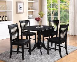 black kitchen dining sets:  dining room round black kitchen table and chairs more black dining room table  piece