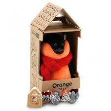 <b>Мягкая игрушка</b> Снегирь: Красный шарф 20 см, <b>Orange Life</b> ...