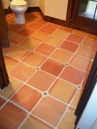 Terracotta Kitchen Floor Tiles Terracotta Floor Love The Small Turquoise Tile At The Corners