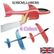 <b>38cm</b>/<b>48cm</b> EPP Foam <b>Hand</b> Throw Airplane Outdoor Launch Glider ...