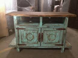 tv stand turquoise distressed wood antiquing wood furniture