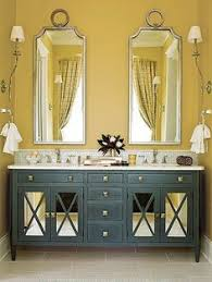 37 sunny yellow bathroom design ideas digsdigs mustard yellow walls are offset by a