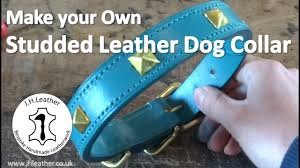 How to Make a Sudded Leather <b>Dog Collar</b> -Tutorial - YouTube