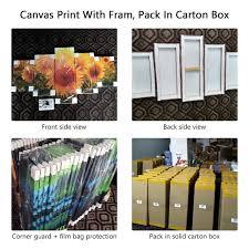 Modern Canvas <b>Pictures</b> HD Printed <b>Wall Art</b> Framework 5 Pieces ...