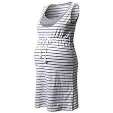 2019 Women Pregnant Maternity Stripe Tunic ... - Amazon.com