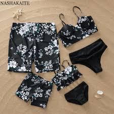 NASHAKAITE <b>Family Matching Swimwear</b> Polka Dot Print Sexy ...