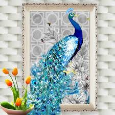 <b>DIY Peacock</b> 5D <b>Diamond</b> Embroidery <b>Paintings</b> Rhinestone Pasted ...