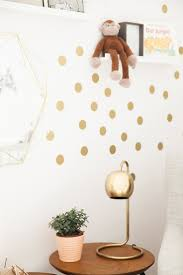 sun wall decal trendy designs: large gold dot wall stickers nursery decor with gold lamp