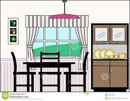 clip art kitchen table dining room with furniture and art dining room furniture