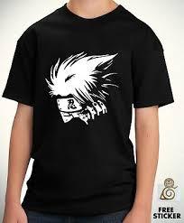 <b>Kakashi Kids T shirt</b> Sharingan Cartoon <b>Anime Boys</b> Birthday Tee ...