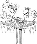 Раскраска птичка у кормушки