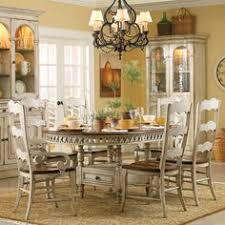seven piece dining set: hooker furniture summerglen seven piece round dining table with one pass through drawer amp