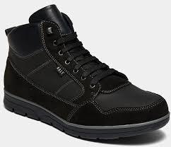 <b>Ботинки</b> мужские <b>JIM</b> (цвет черный, натуральная кожа,нубук ...