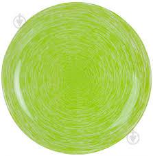 Тарелка обеденная 26,5 см P1402 <b>Brush Mania</b> Green <b>Luminarc</b>