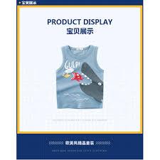<b>2019 summer boys</b>' new <b>children's</b> vest <b>boys sleeveless</b> sling cotton ...