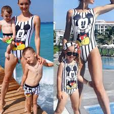 Family Matching Mother Girl Swimwear One Piece Swimsuits ...