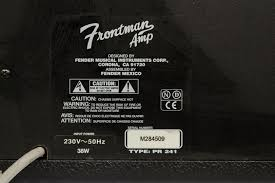 <b>Fender Frontman</b> Amp PR-241 (used) купить в Москве – интернет ...