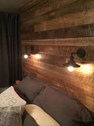 Diy Wood Headboard Rustic Light Fixtures Master Bedroom Google Search Master