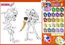 Игры для девочек онлайн с раскрасками бесплатно