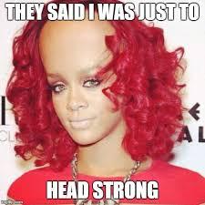 Rihanna big forehead Meme Generator - Imgflip via Relatably.com