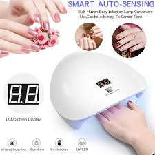 <b>45W</b> UV LED Intelligent Induction Nail Lamp Gel <b>Nail Polish Dryer</b> ...