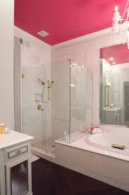 sagging tin ceiling tiles bathroom:  bathroom medium size hot pink ceiling wows in glamorous transitional bathroom hgtv bathroom vanities with